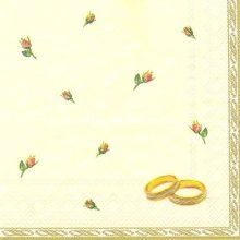 Szalvéta, Családi események , Eljegyzési gyűrűk