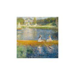 Szalvéta Művészet - Monet, csónakázó hölgyek