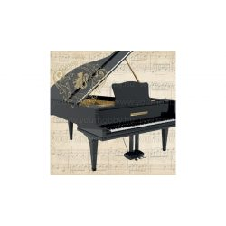 Szalvéták, Egyéb, Zongora hangjegyekkel