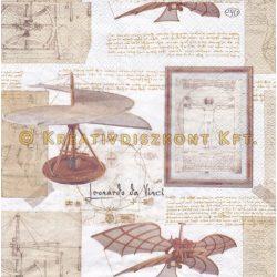 Szalvéta, Egyéb , Leonardo da Vinci