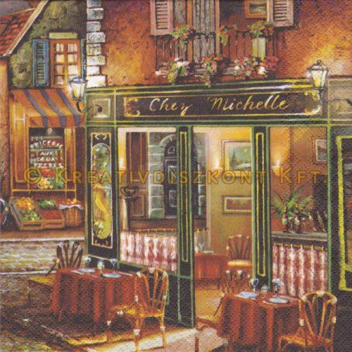 Szalvéta , Épületek , Francia kávézó