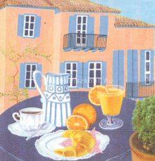 Szalvéta, francia reggeli