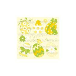 Szalvéta Húsvét - Sárga húsvéti tojások