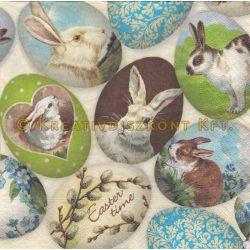 Szalvéta Húsvét - Nyuszis tojások