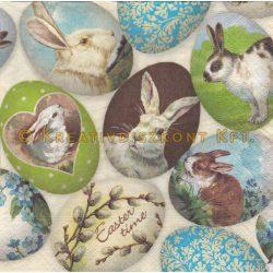 Szalvéta , Húsvéti , Nyuszis tojások