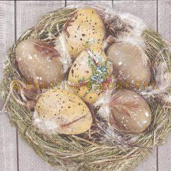 Szalvéta , Húsvéti , Tojások a fészekben