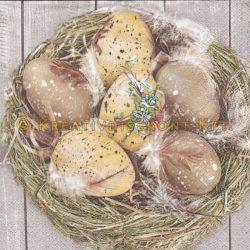 Szalvéta Húsvét - Tojások a fészekben