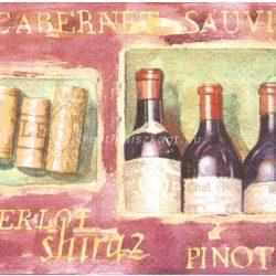 Szalvéta, Italok , Vörösbor