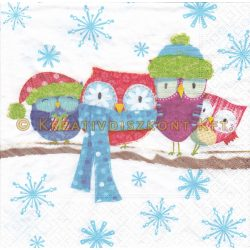 Szalvéta , Karácsonyi , Téli baglyok