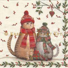 Szalvéta , Karácsonyi , Cicák