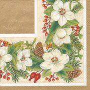 Szalvéta , Karácsonyi , Karácsonyi virágminta