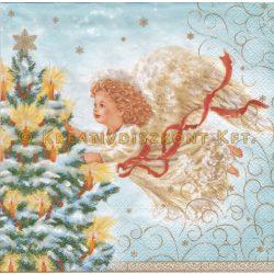 Szalvéta , Karácsonyi , Angyalka