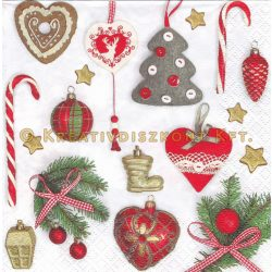 Szalvéta, Karácsonyi , Karácsonyfadíszek