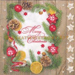 """Szalvéta, Karácsonyi , """"Merry Christmas"""""""