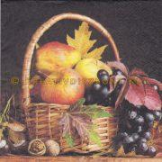 Szalvéták Őszi kosár gyümölcsökkel