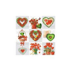 Szalvéta Szívek - Szerelmes szívek
