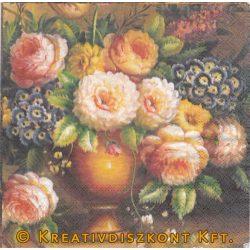 Szalvéta, Virágok, Klasszikus rózsacsokor
