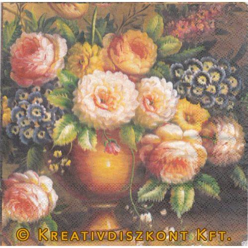 Szalvéta Klasszikus virágcsokor