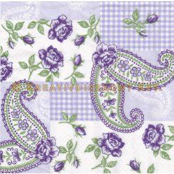Szalvéta Lila virágos sejtminta