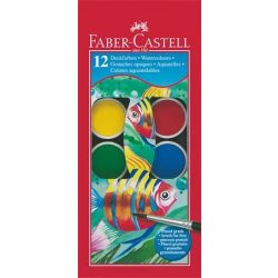 Vízfesték, 12 darabos, 30 mm, FABER-CASTELL