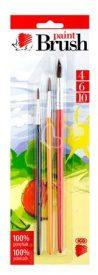 """ICO Ecsetkészlet, no. 4-6-10, fa, ICO """"Süni"""", vegyes színek"""