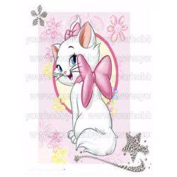 Gyémántszemes kirakó, Aranyos macska 40x50 cm