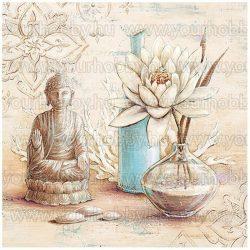 Gyémántszemes kirakó, Budha & lótusz 50x50 cm