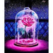 Gyémántszemes kirakó, Mesebeli rózsa 30x40 cm