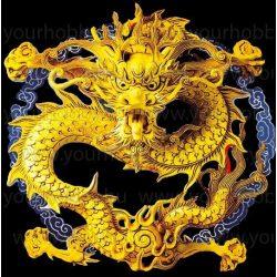 Gyémántszemes kirakó, Arany sárkány 50x50 cm