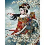Gyémántszemes kirakó, Tradícionális kínai hölgy 50x40 cm