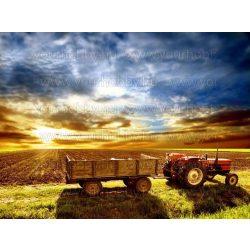 Gyémántszemes kirakó, Traktor a mezőn 50x40 cm