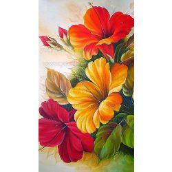 Gyémántszemes kirakó, Virágok 50x100 cm