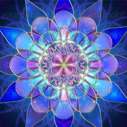 Gyémántszemes kirakó, szivárvány mandala 50x50 cm