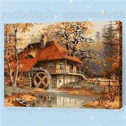 Festés számok után Vizimalom ősszel E095 40x50 cm
