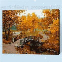 Festés számok után Őszi táj 40x50 cm E259