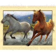 Gyémántszemes kirakó, Vágtázó lovak 35x45 cm