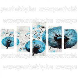 Gyémántszemes kirakó, Kék pitypangok, 5 részes 95x45 cm