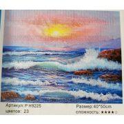 Festés számok után Sirályok a sziklás partnál P H9225 40x50 cm
