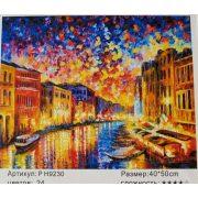 Festés számok után Gondolák Velencében P H9230 40x50 cm