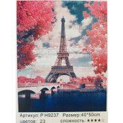 Festés számok után Párizs Eiffel-torony PH9237 40x50 cm