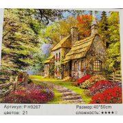 Festés számok után Erdei vidéki ház P H9267 40x50 cm