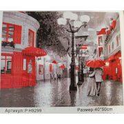 Festés számok után Séta esőben P H9299 40x50 cm