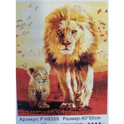Festés számok után Oroszlán P H9359 40x50 cm