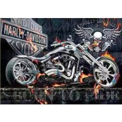 Gyémántszemes kirakó, Harley 45x55 cm