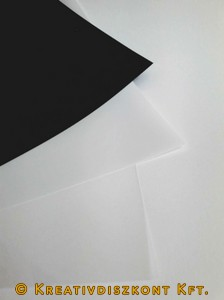 Zsugorka fólia, előrecsiszolt, 3 színben 20 x 30cm/ív, opál
