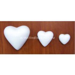 Polisztirol szív 3 méretben 5 cm
