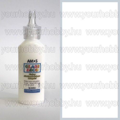 Amos Üvegmatrica festék 22 ml - Fehér