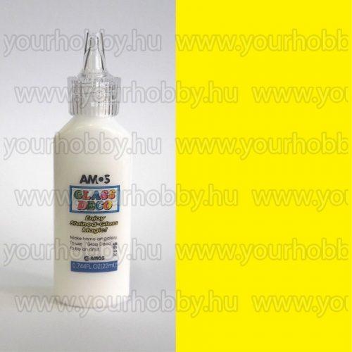 Amos Üvegmatrica festék 22 ml - Citromsárga