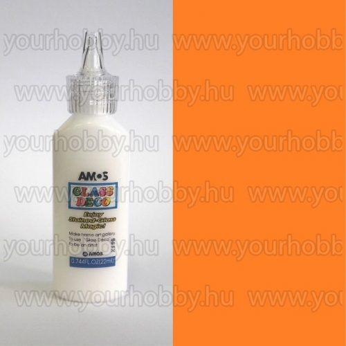 Amos Üvegmatrica festék 22 ml - Narancssárga