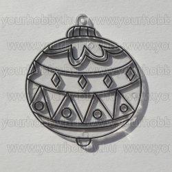 Kifesthető sablon S-7 Karácsonyi gömb (S39)